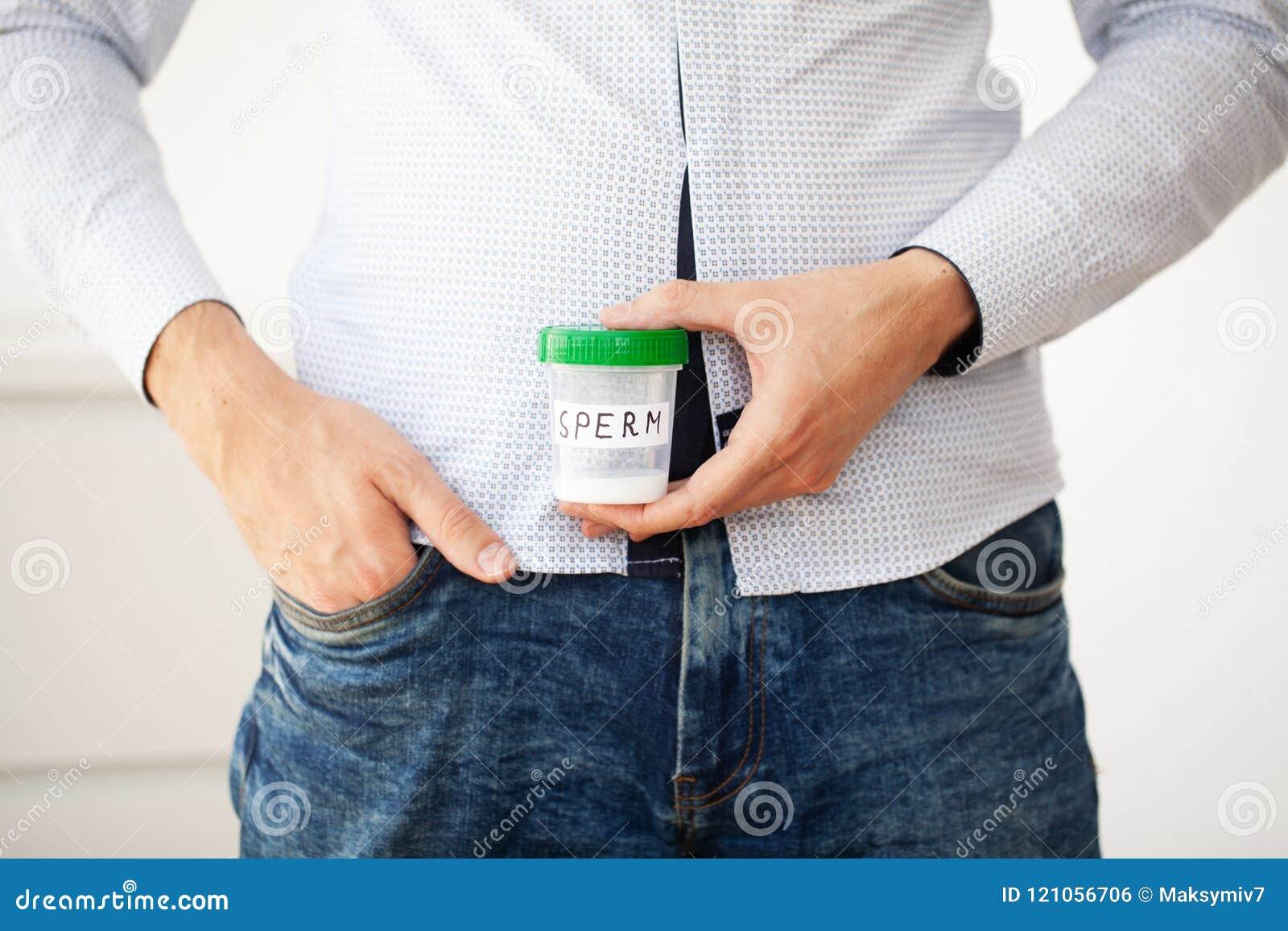Salud Esperma de la muestra Concepto del cierre de la esperma dispensadora de aceite de esperma del banco I