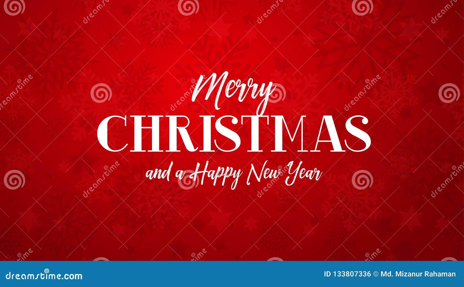 Salutation de Joyeux Noël sur le fond rouge