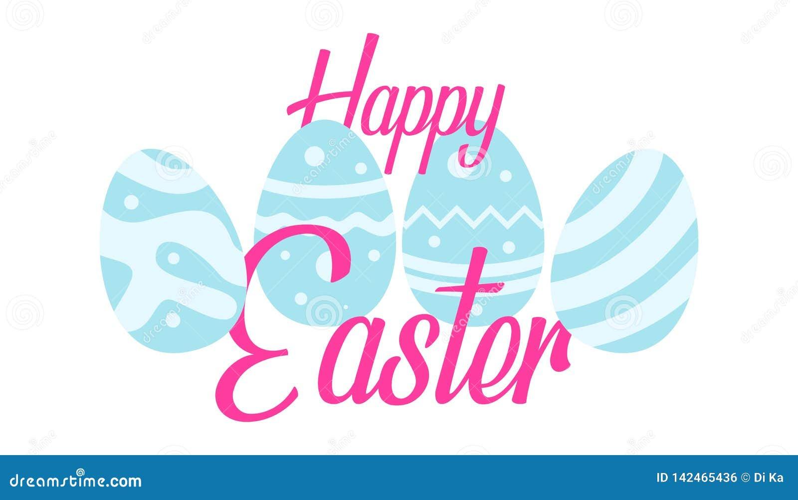 Salutation heureuse de Pâques avec le fond d oeufs