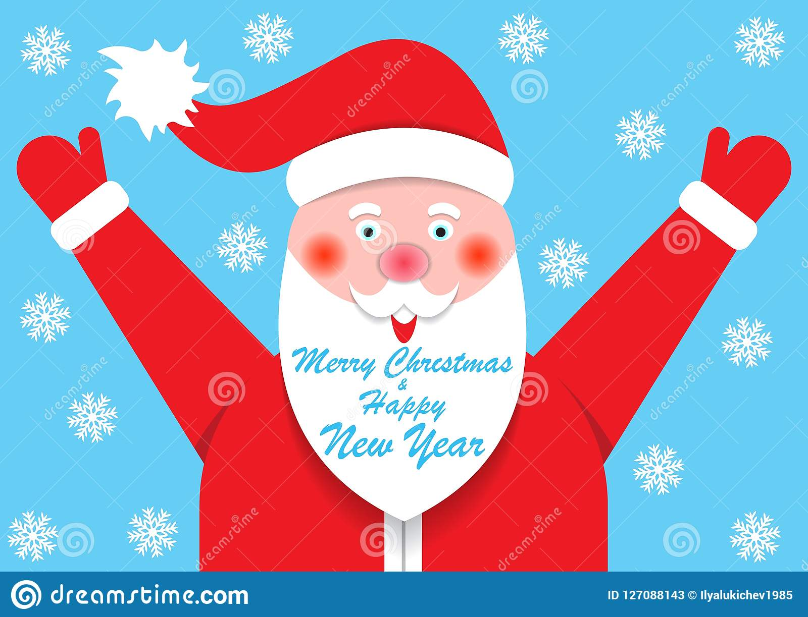 Salutations de Joyeux Noël et de nouvelle année, calibre, carte postale, bannière
