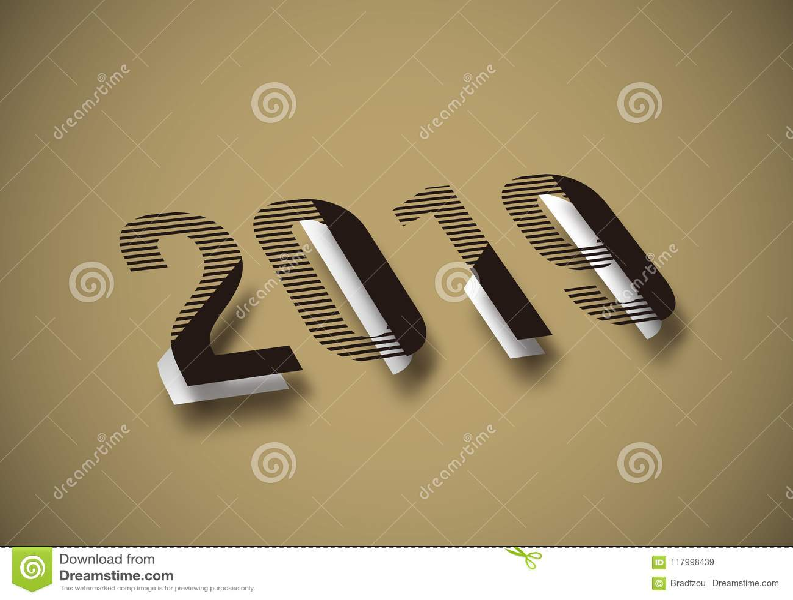 Salutations de Noël de 2019 bonnes années