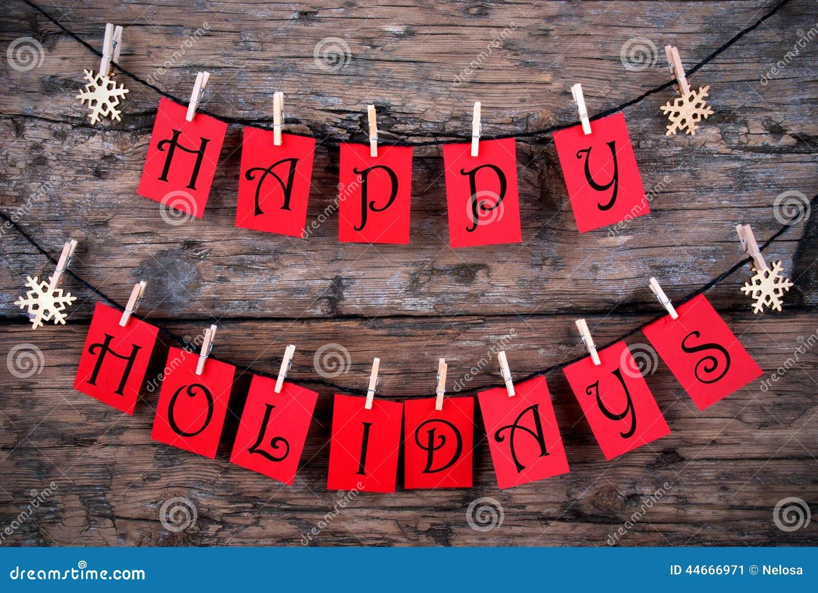 Saluti felici di feste su una linea