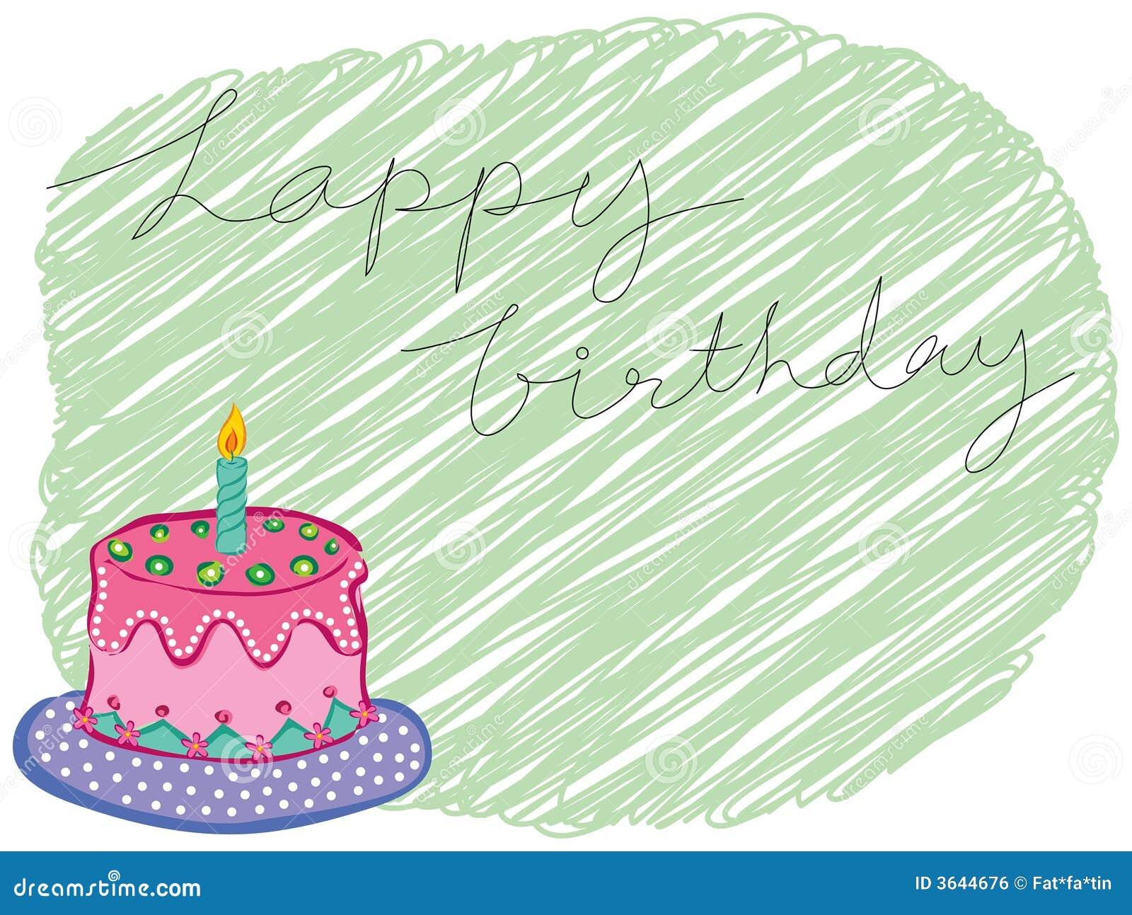 Saluto della torta di buon compleanno immagine stock - Colorazione pagina della torta di compleanno ...
