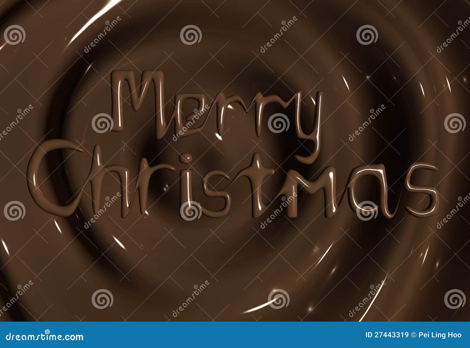 Saluto di Buon Natale del fornitore del cioccolato