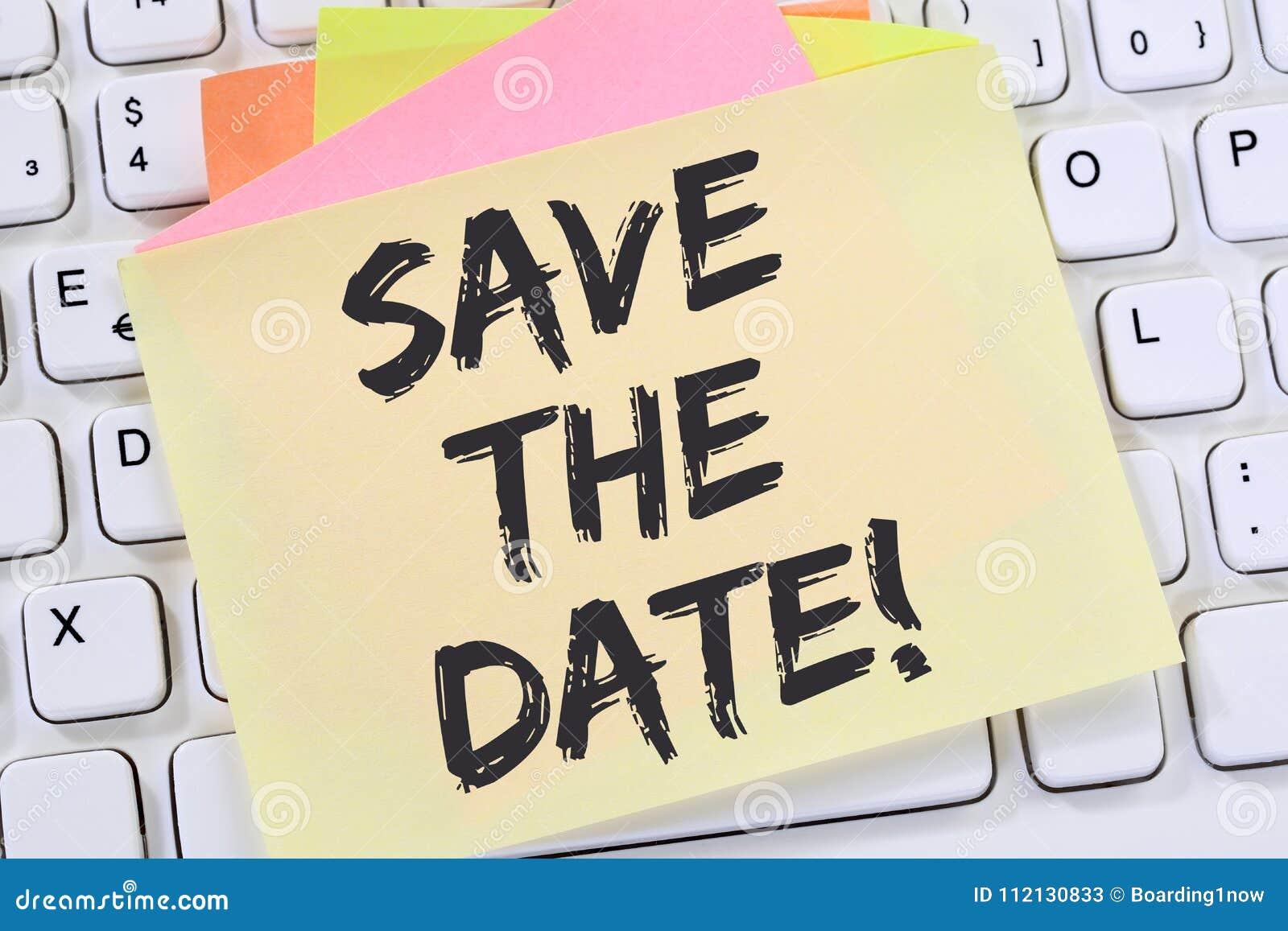 Salvar o papel de nota da informação de negócios da mensagem do convite da data