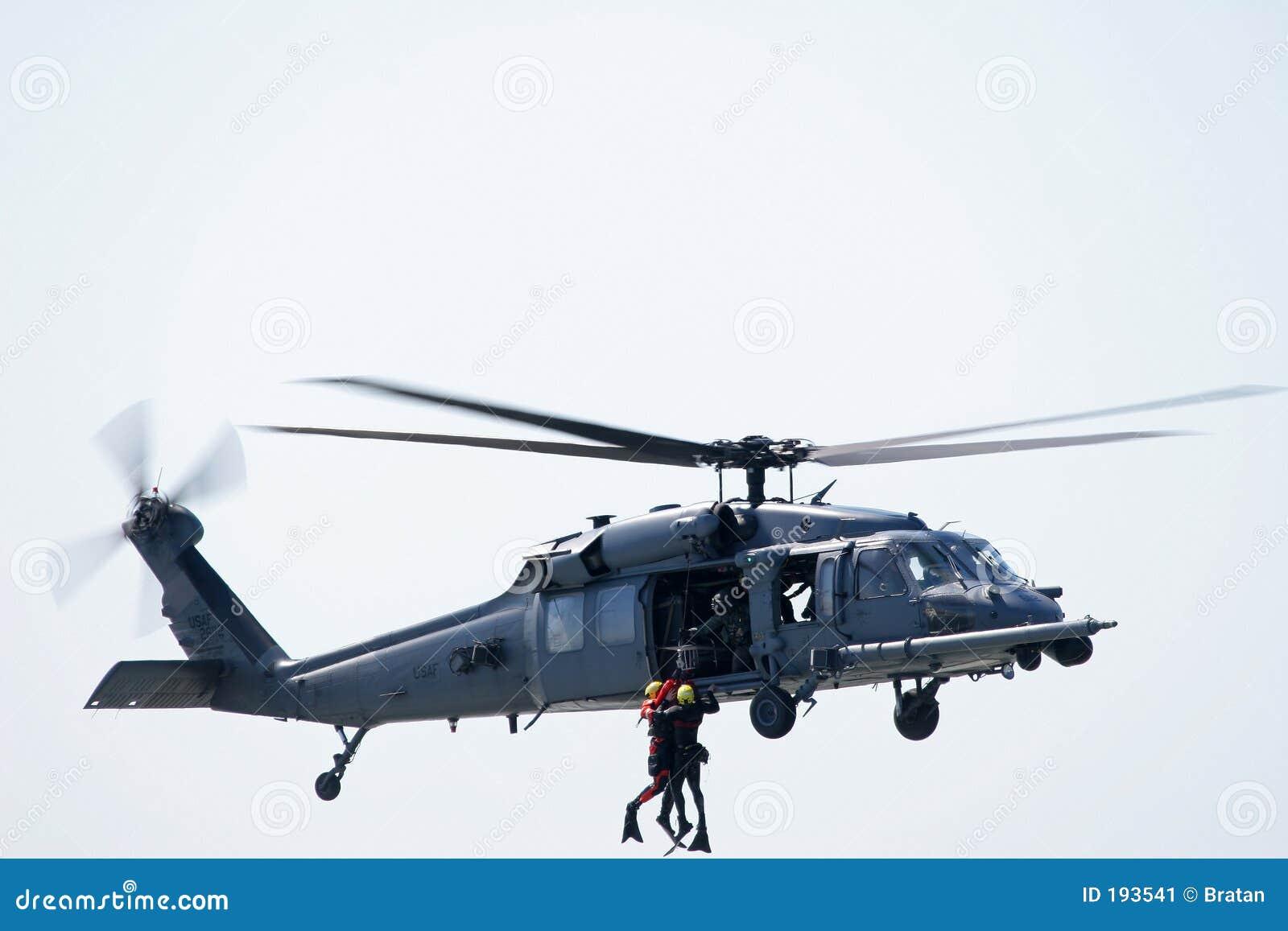 Carburante Elicottero : Salvataggio del mare dell elicottero immagine stock