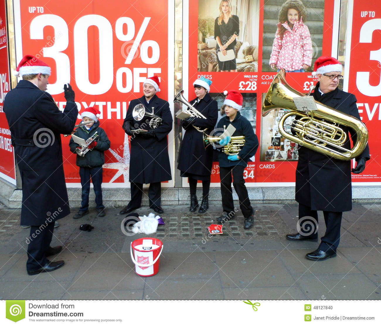 Salvation Army Band Editorial Image Image Of Bucket 48127840