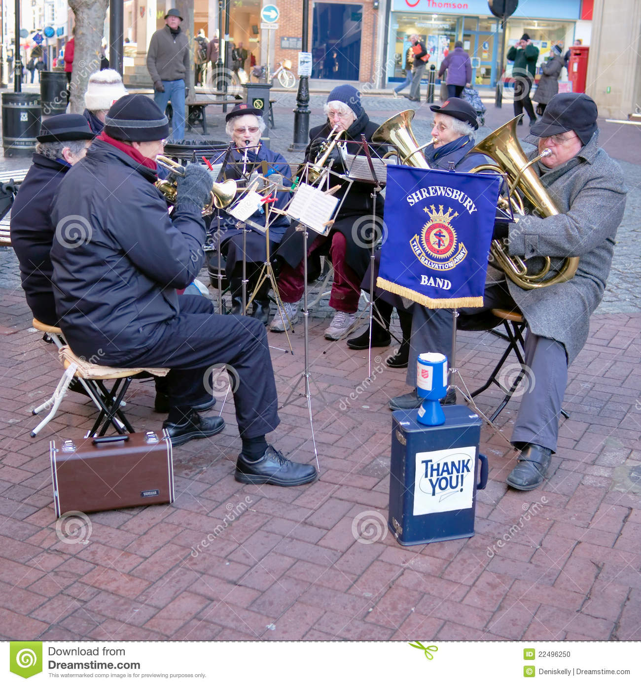 Salvation Army Brass Band Entertainers Editorial Image Image Of