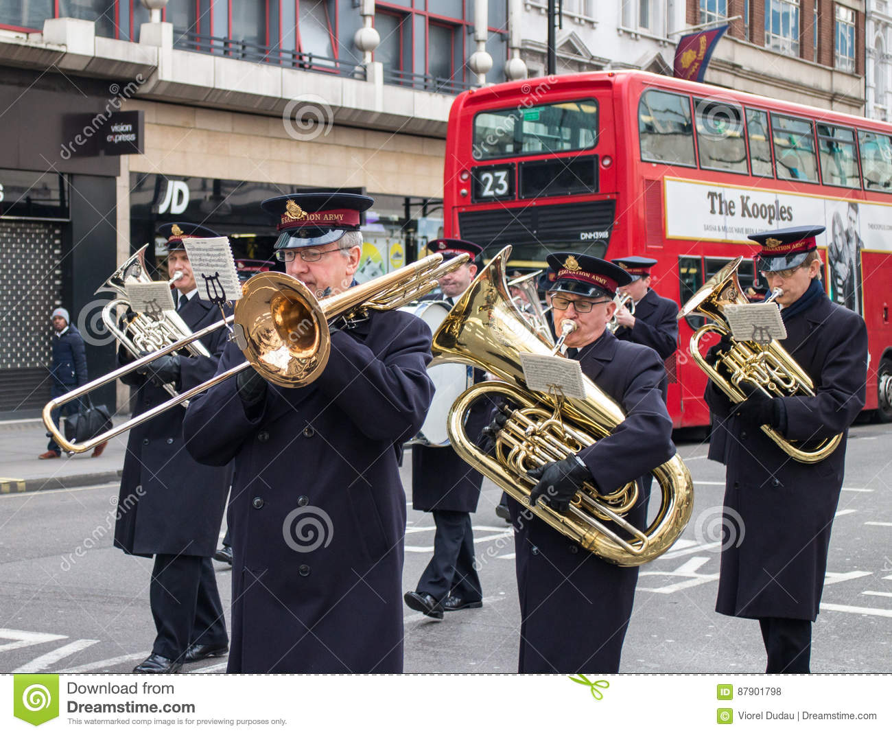 Salvation Army Brass Band In London Editorial Stock Photo Image Of