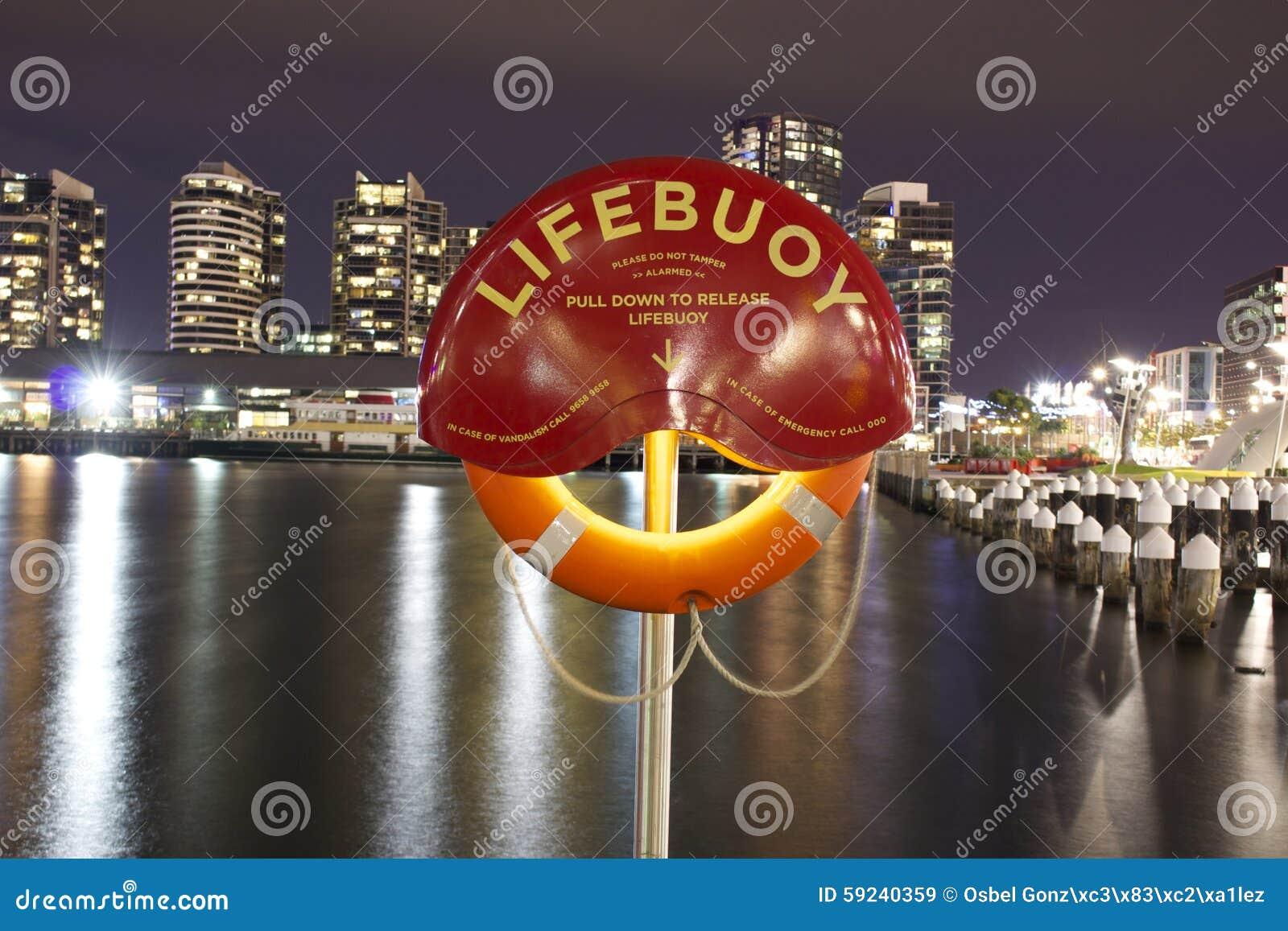 Download Salvavidas Melbourne imagen de archivo. Imagen de largo - 59240359