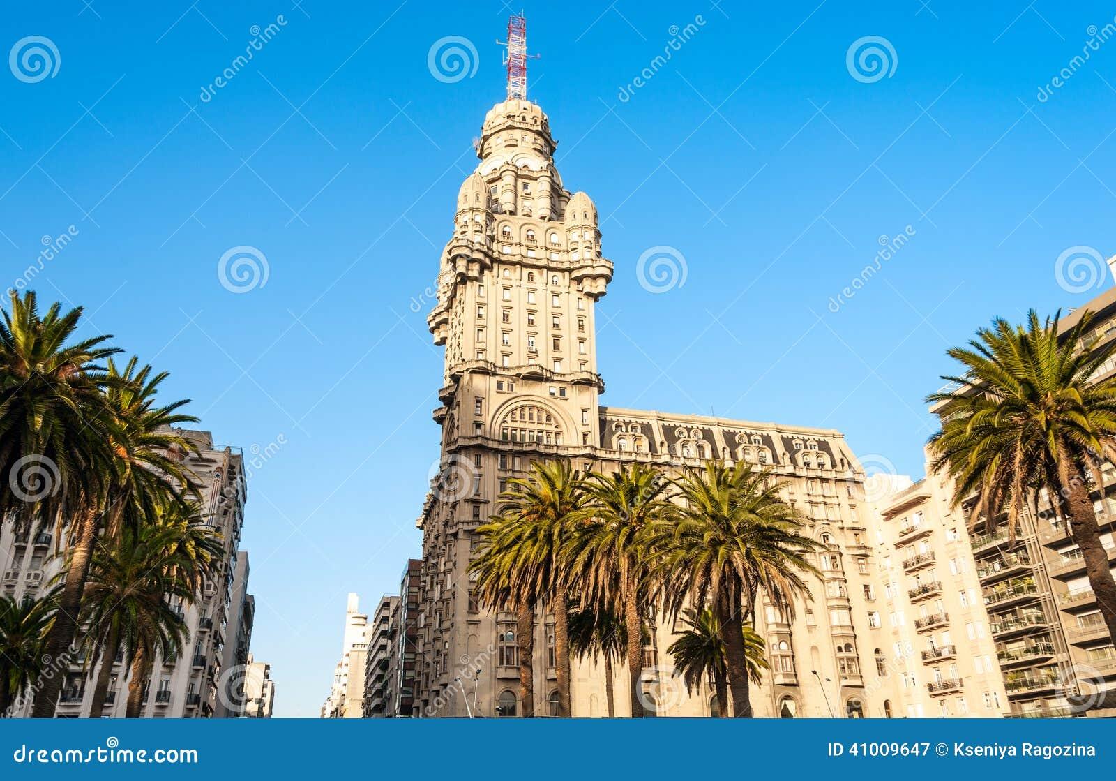 Salvo Palace självständighetfyrkant, Montevideo, Uruguay