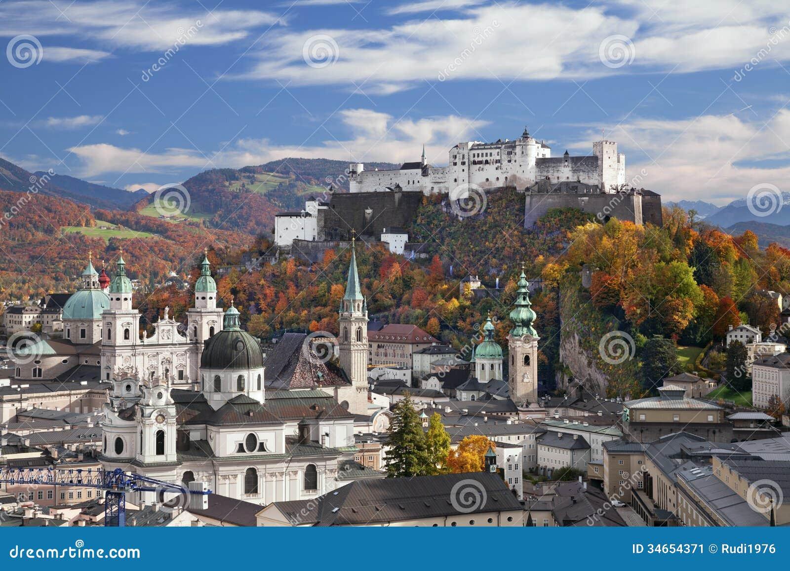 Download Salzburg, Austria. stock image. Image of color, architecture - 34654371