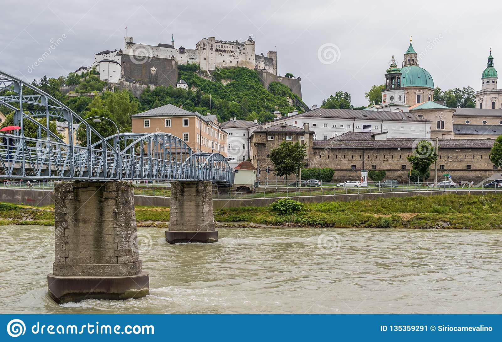 The bridges of Salzburg. Austria