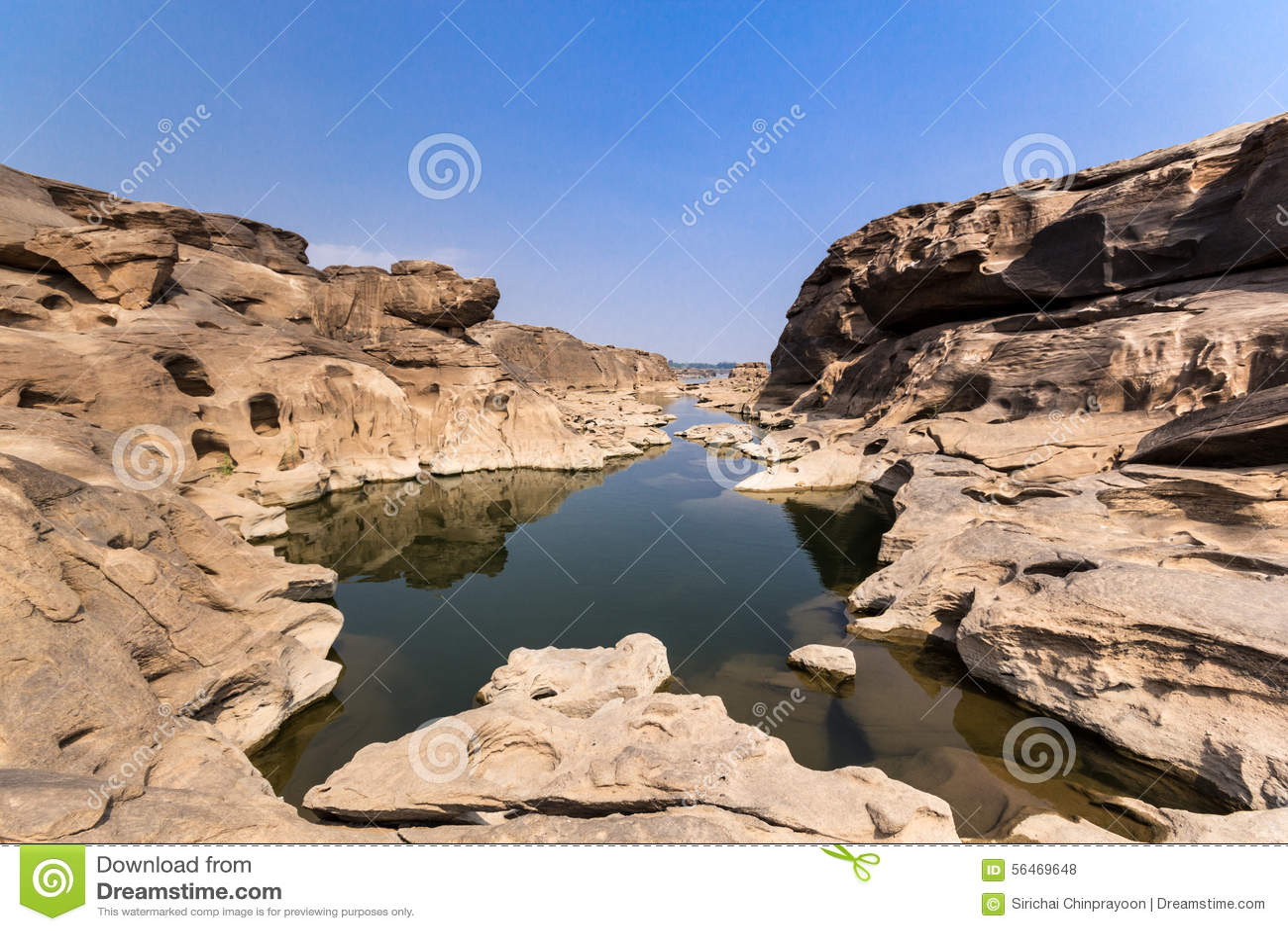 Download Sam Pan Bok stock photo. Image of mekong, river, ubonratchathani - 56469648