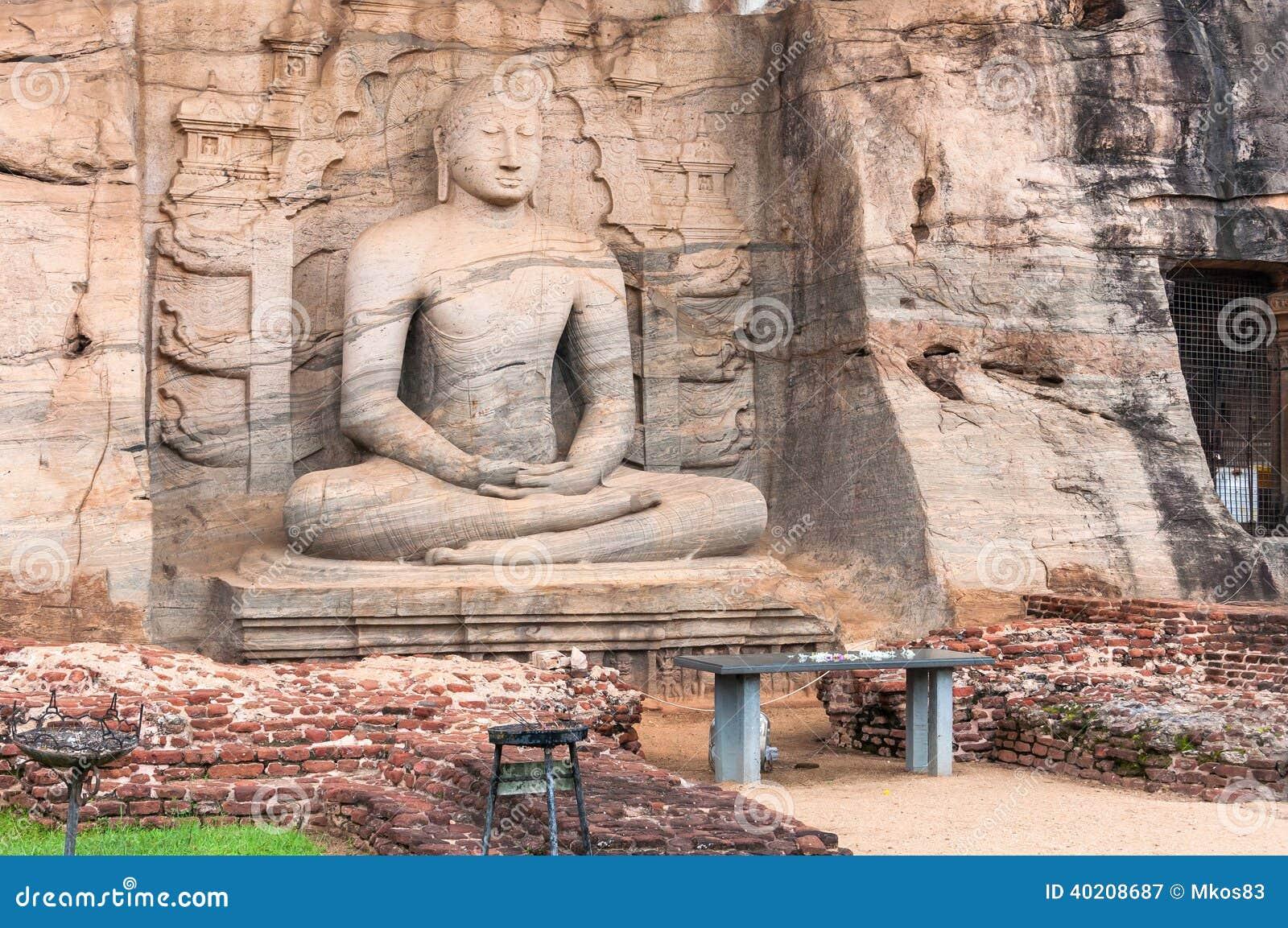 Samadhi buddha statue in pollonaruwa sri lanka stock
