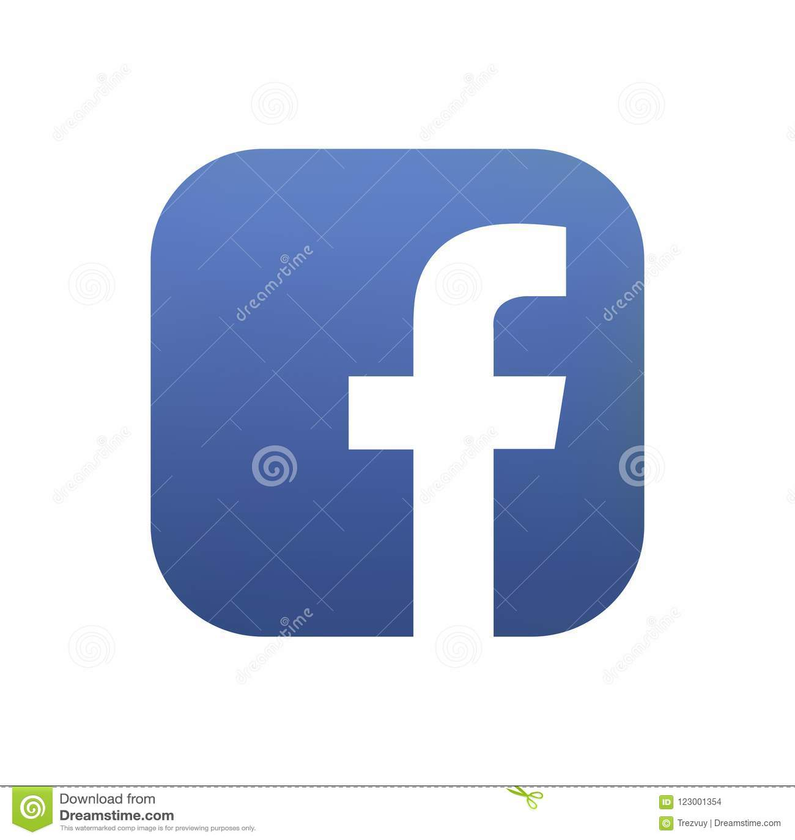 Samara, Ρωσική Ομοσπονδία - 4 Αυγούστου 2018: Εκδοτική ζωτικότητα Εικονίδιο λογότυπων Facebook Το Facebook είναι το δημοφιλέστερο