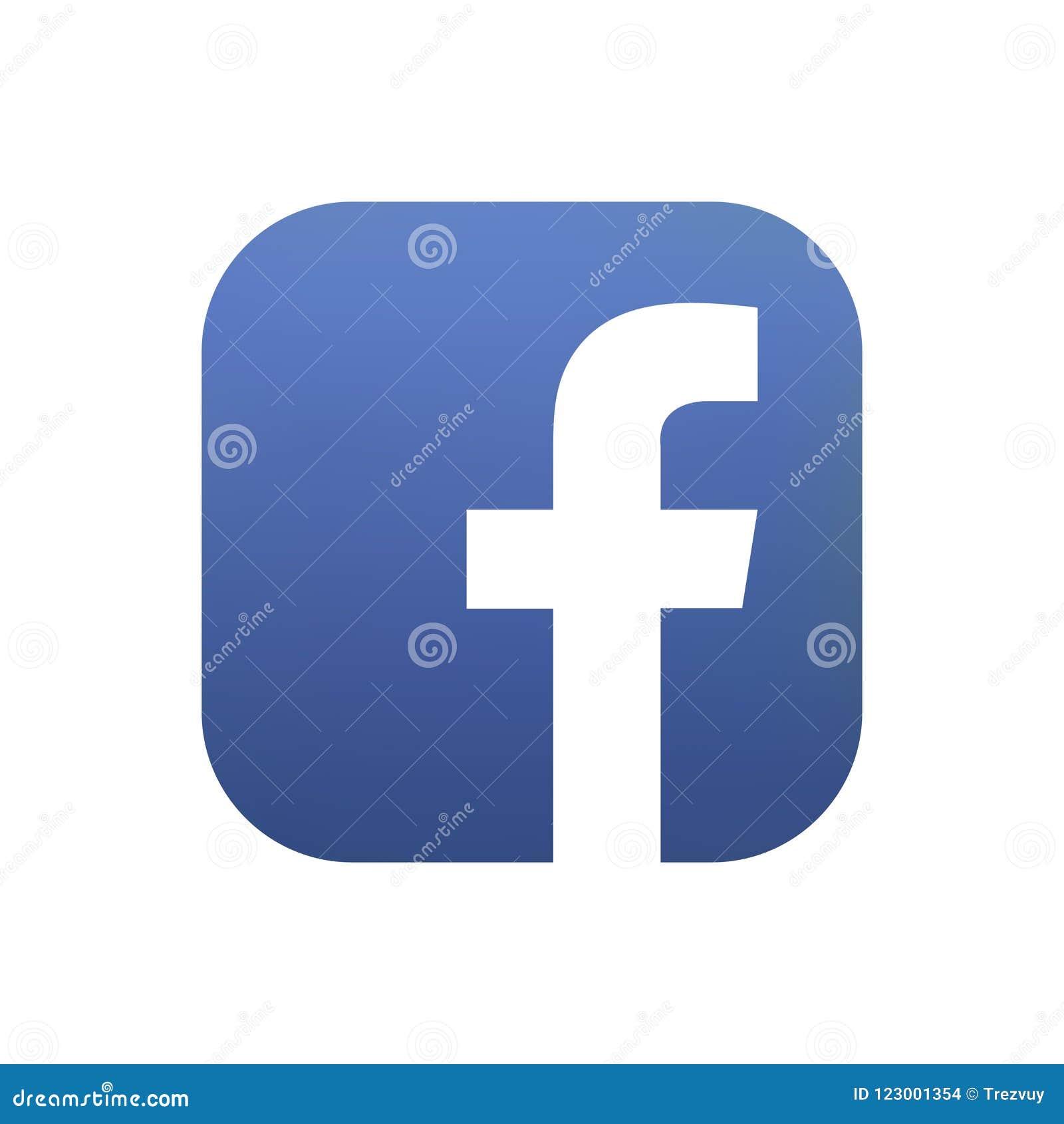 Samara, Russische Federatie - 4 Augustus, 2018: Redactieanimatie Facebook-embleempictogram Facebook is het populairst