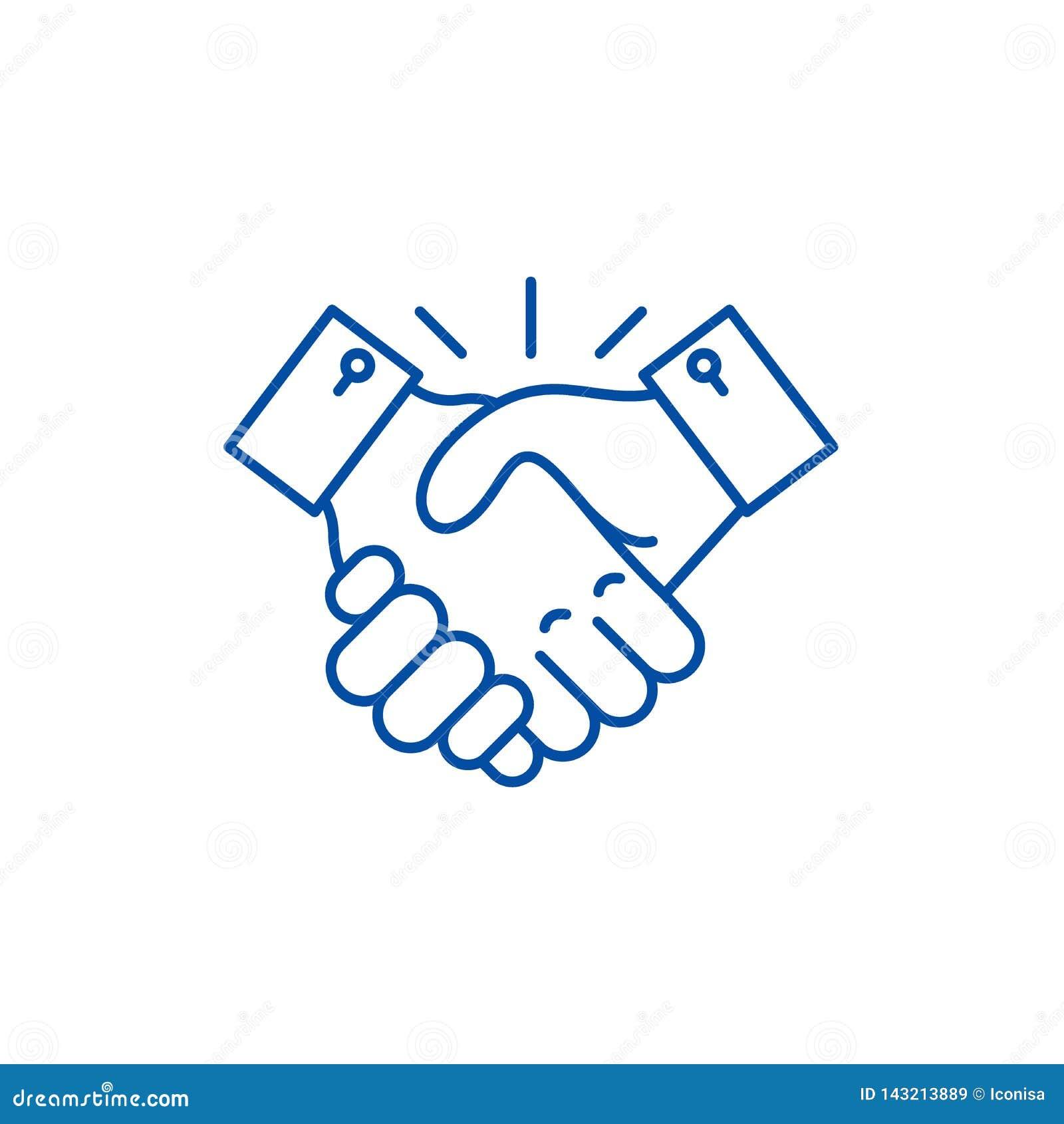 Samarbetslinje symbolsbegrepp Plant vektorsymbol för samarbete, tecken, översiktsillustration