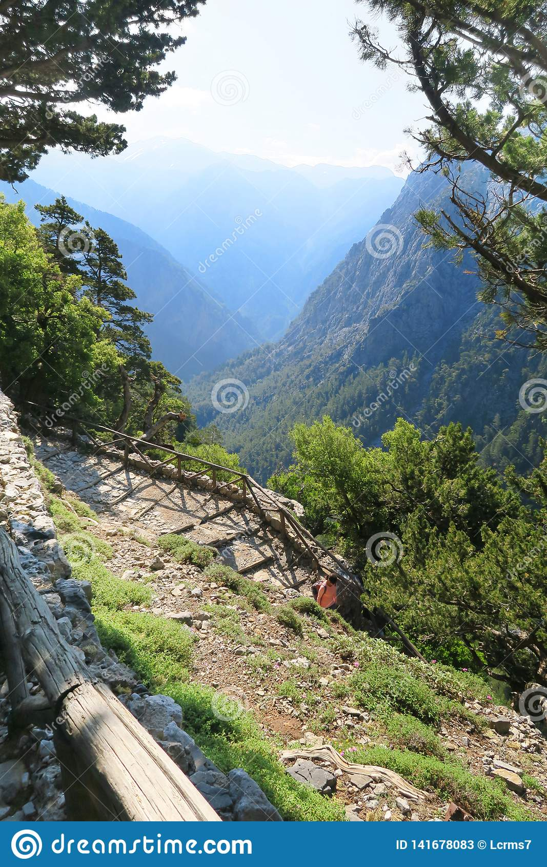 Samaria Gorge at Crete Greece hiking path