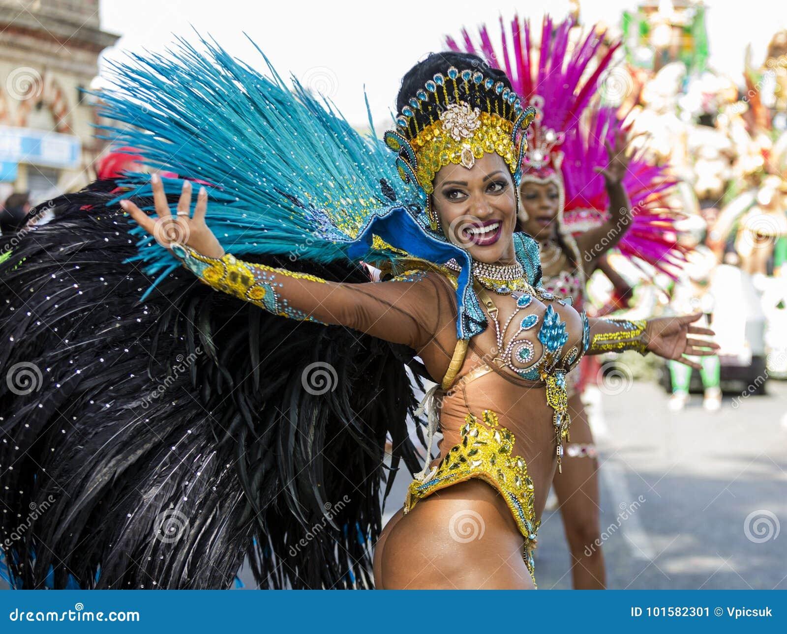 Samba Dancer, Notting Hill Carnival, London Editorial Photo