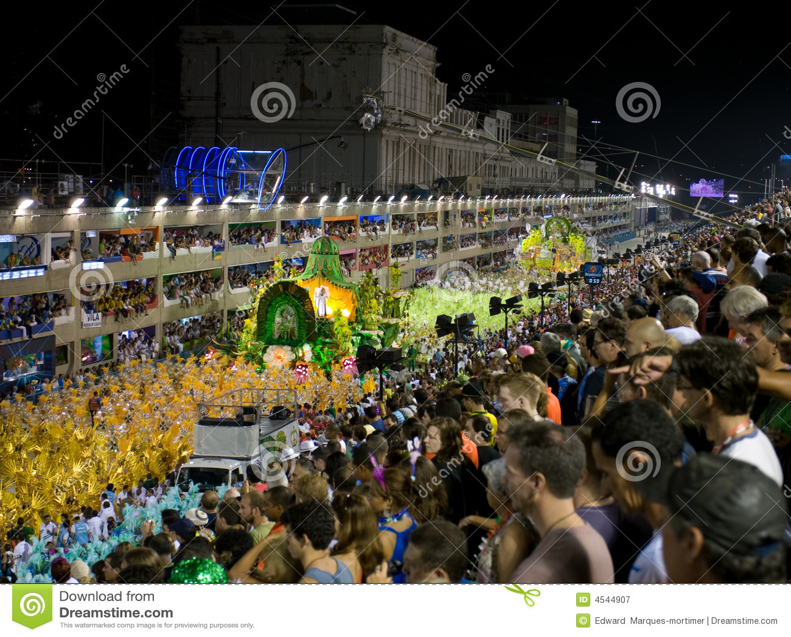 Sambodrome no carnaval de Rio, 008.