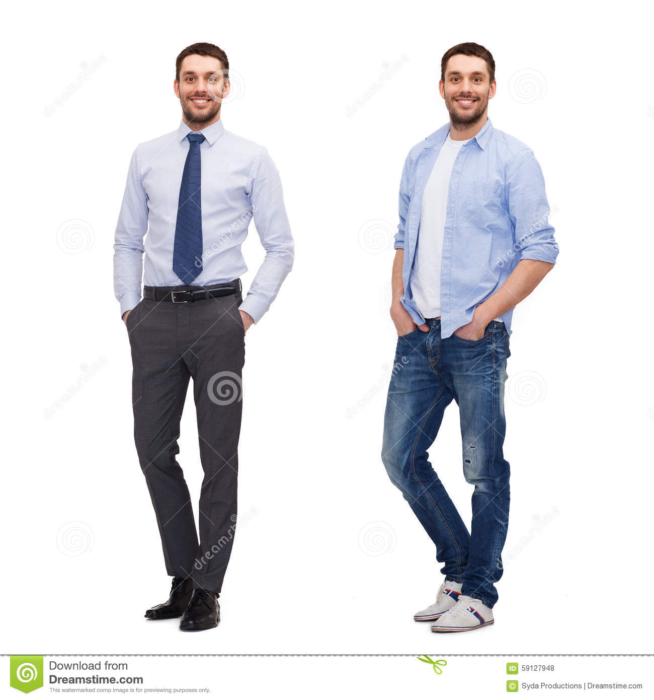 Same Man In Different Style Clothes Stock Photo Image 59127948