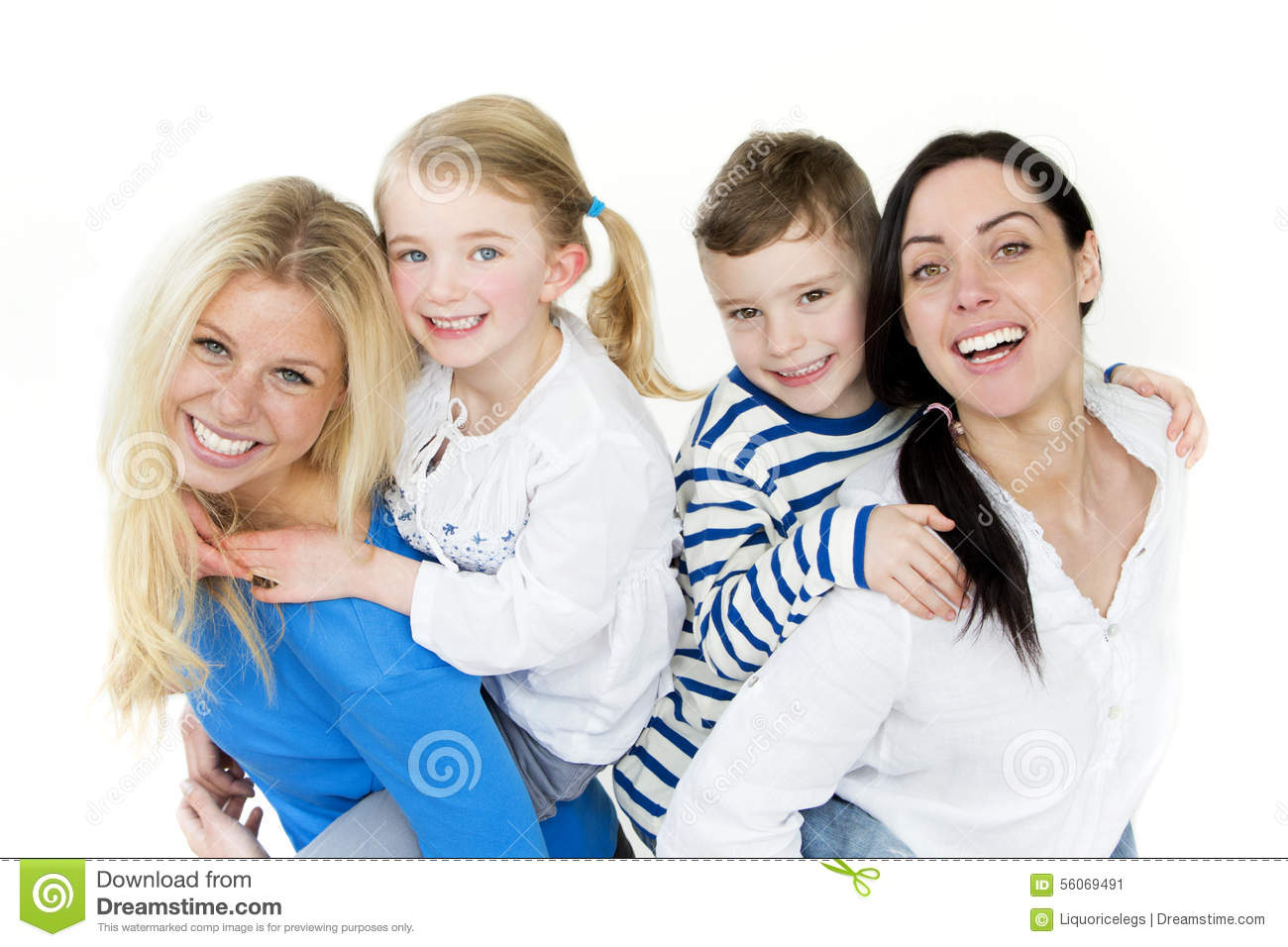 Same sex couple with children