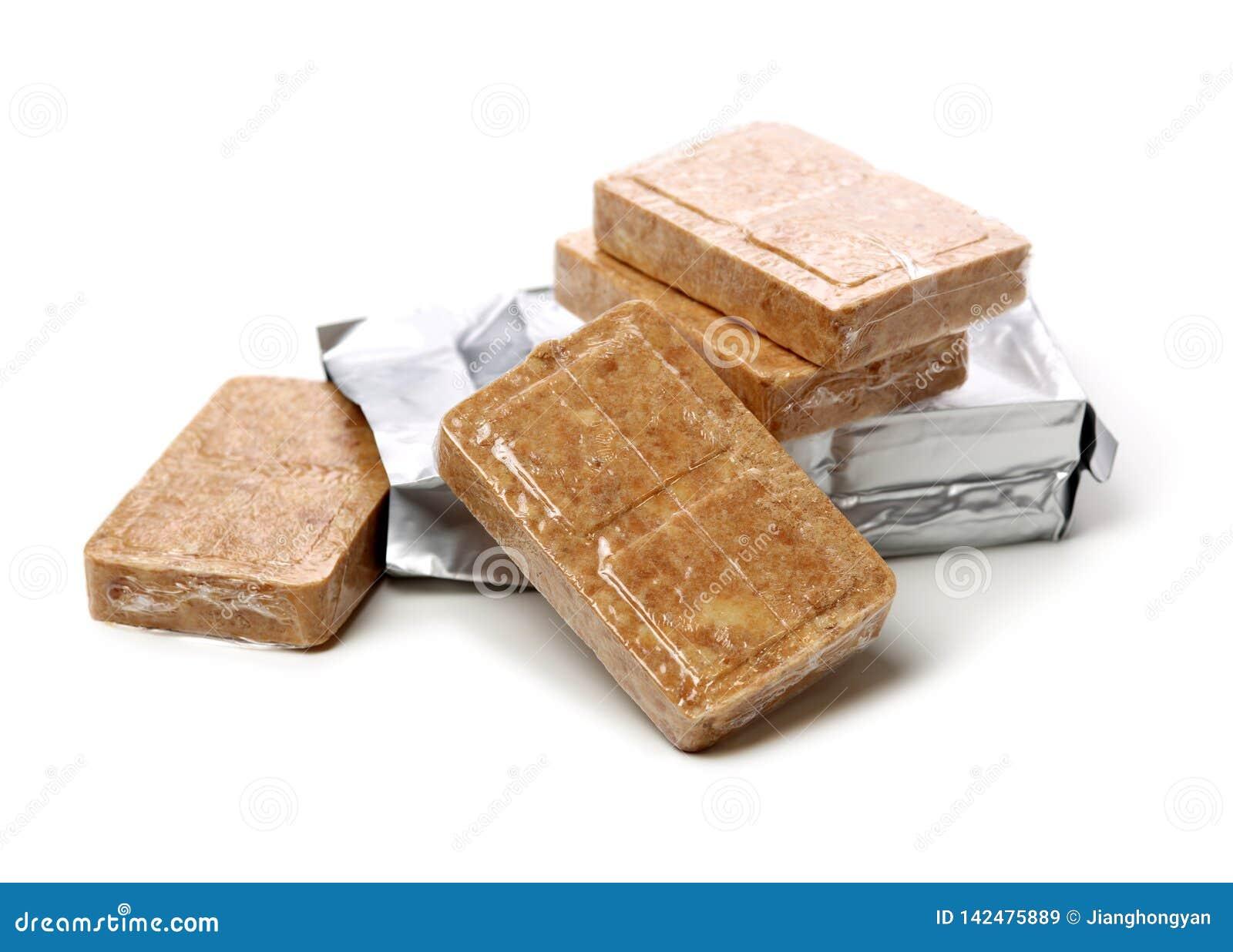 Samengeperst koekjesvoedsel