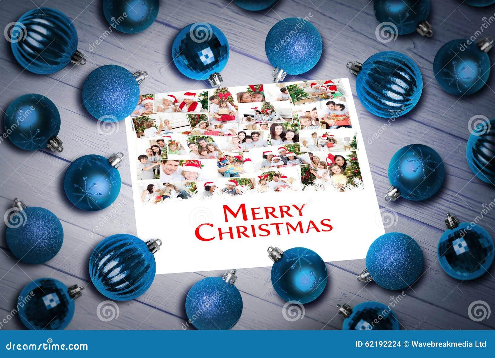 Samengesteld beeld van Kerstmissnuisterijen op lijst