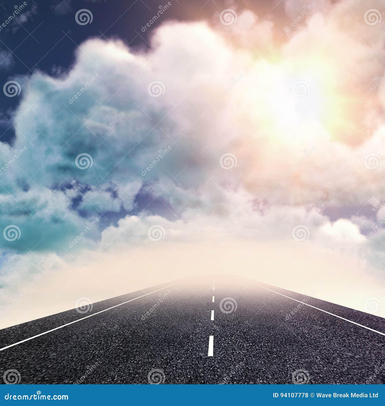 Samengesteld beeld van mening van bewolking tegen hemel