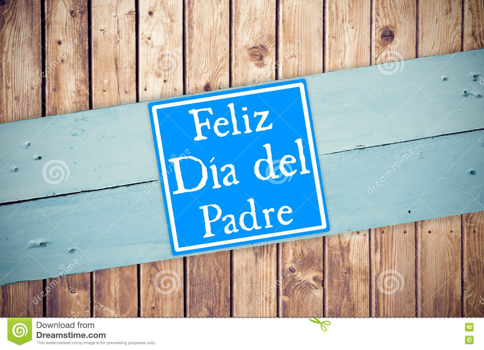 Samengesteld beeld van woord feliz dia del padre