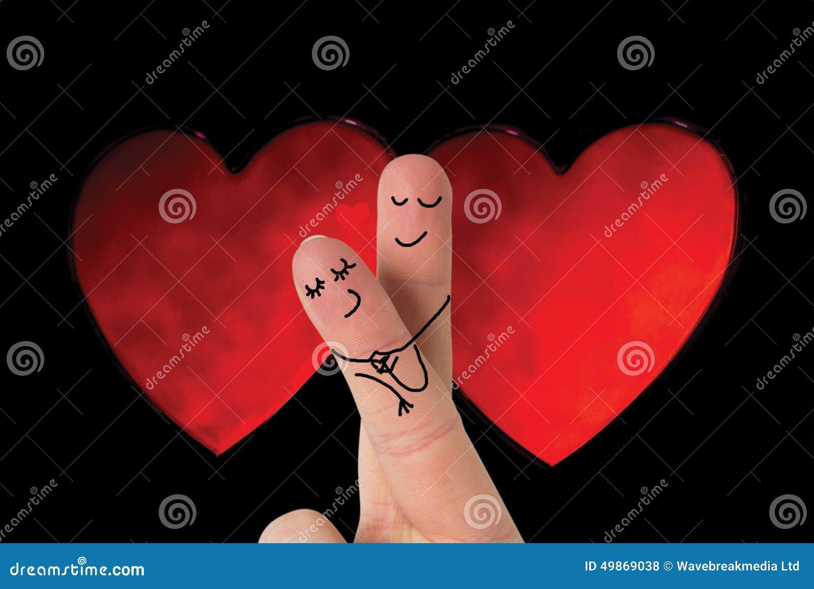 Samengesteld die beeld van vingers als paar worden gekruist