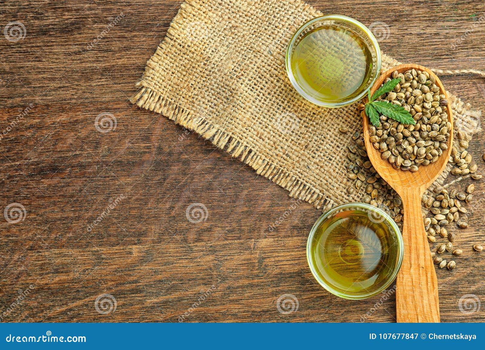 Samenstelling met hennepolie en zaden