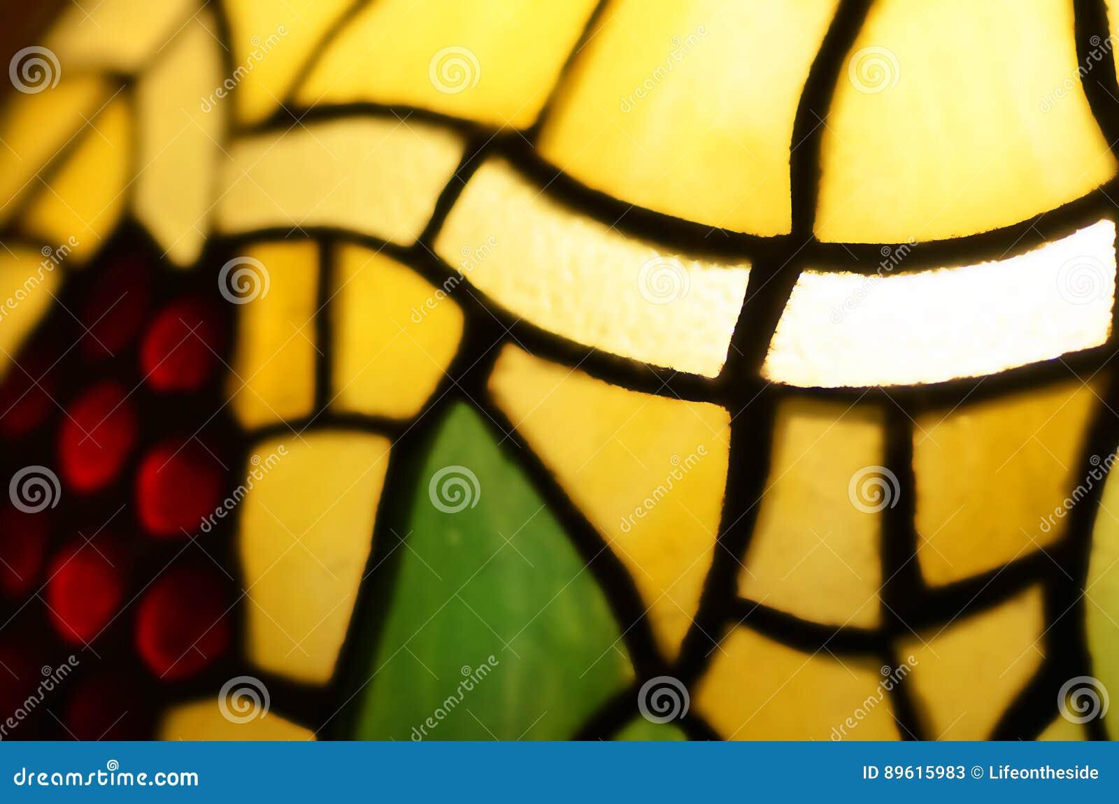 Samenvatting vaag achtergrond bevlekt leadlight glas