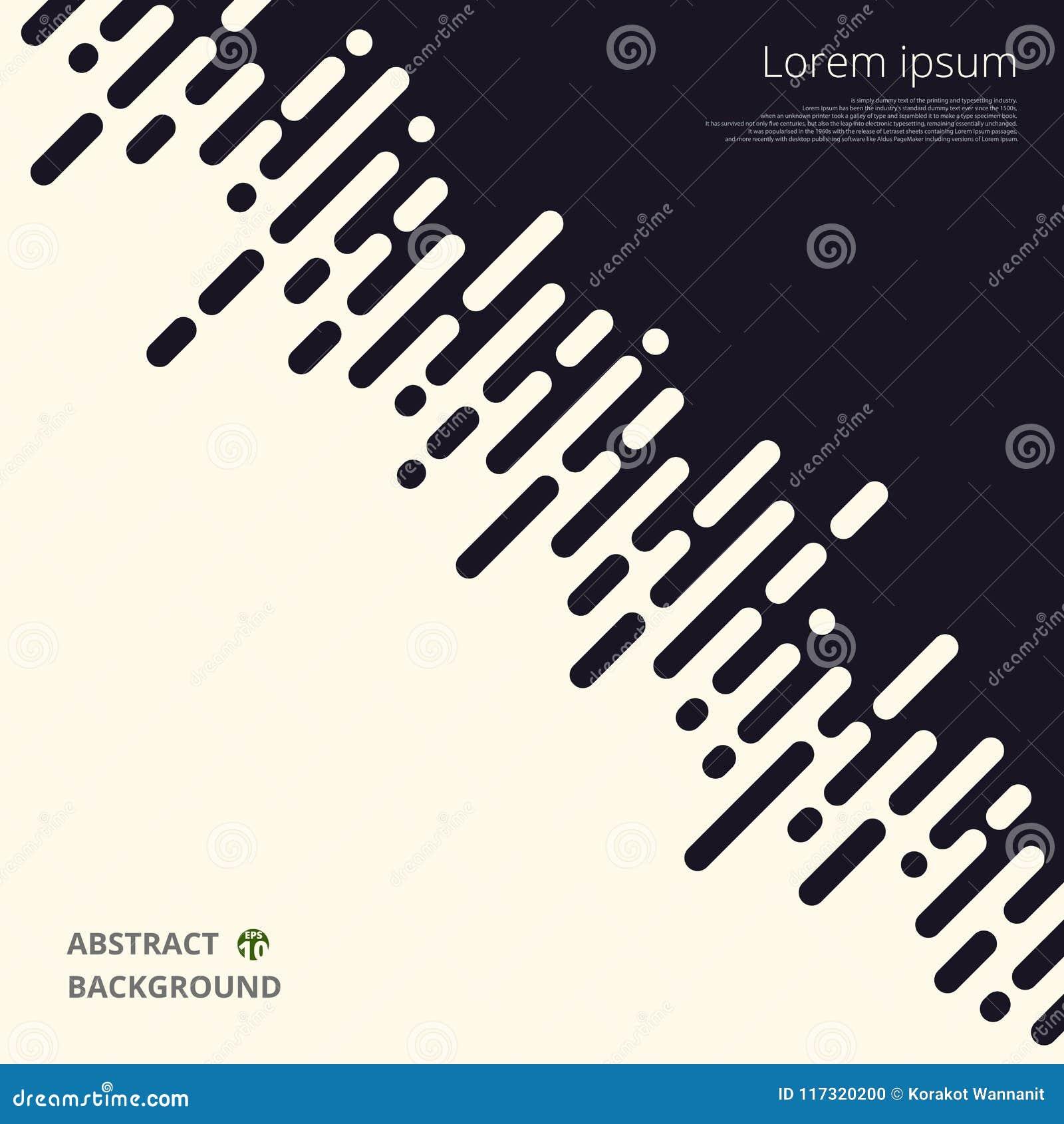 Samenvatting van zwart-witte streeplijnen voor bedrijfspresentatieachtergrond