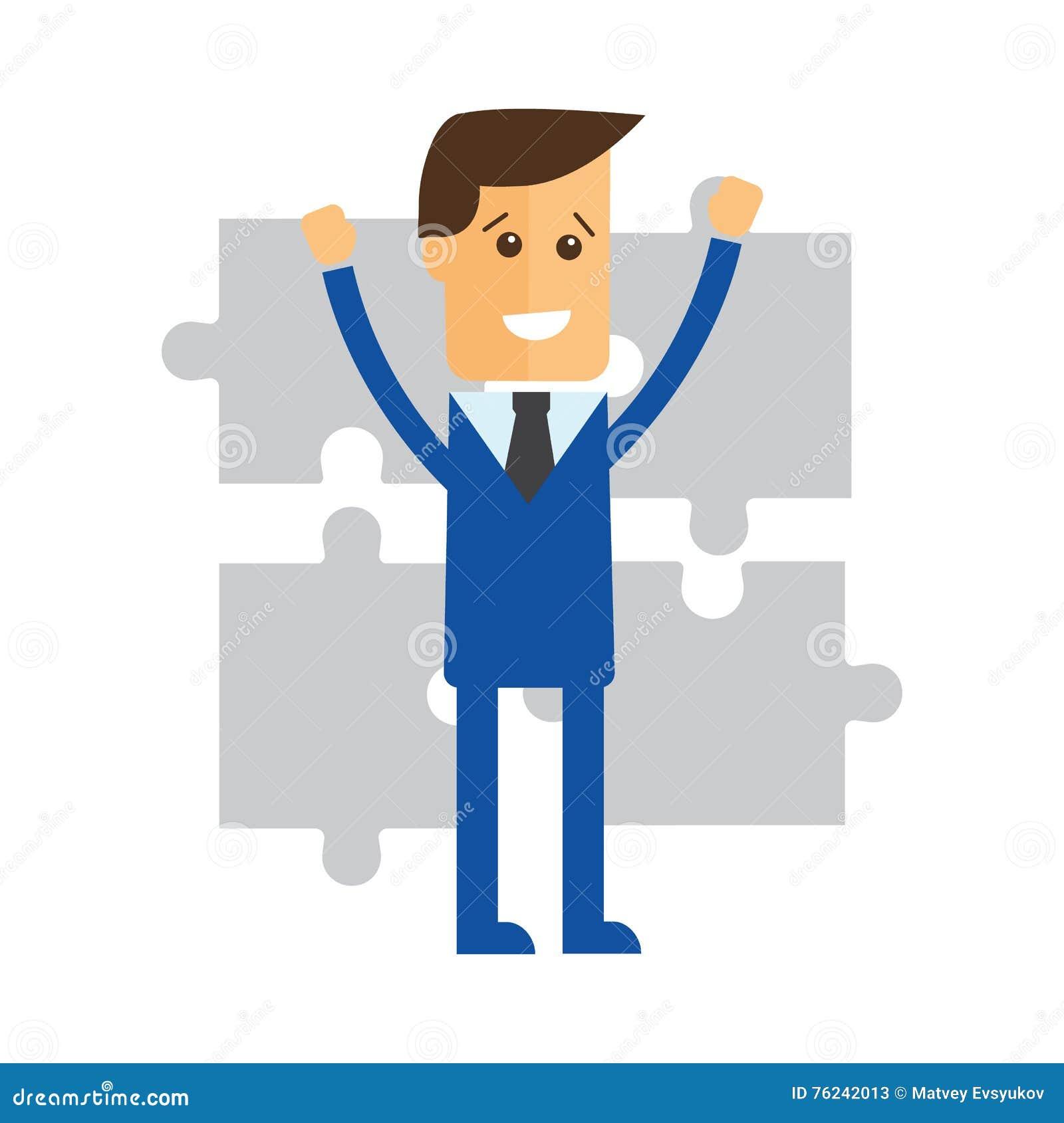Samenwerking Bedrijfs conceptenillustratie