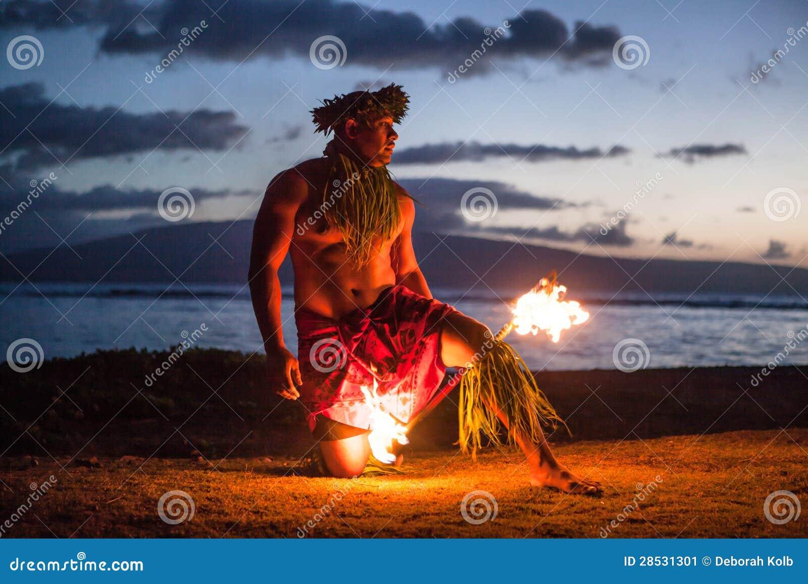 Samiec Pożarniczy tancerz w Hawaje