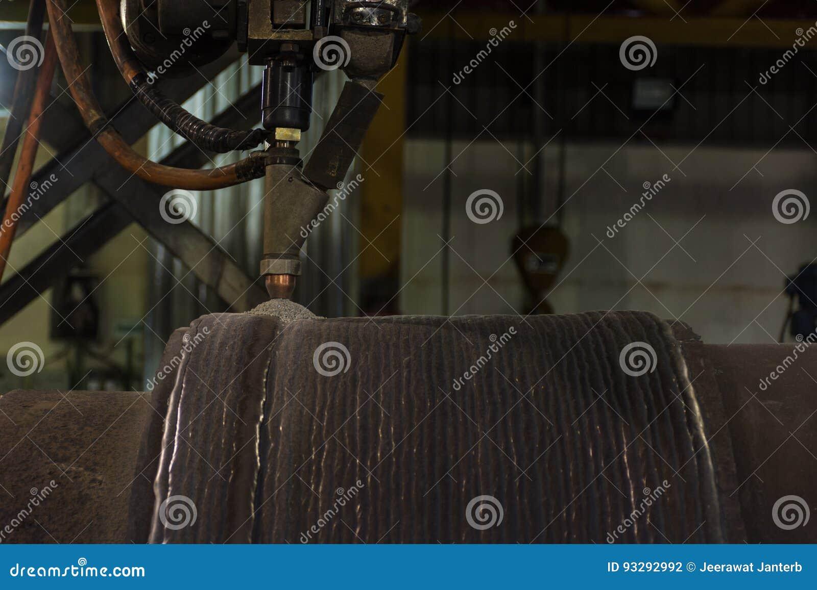 Samkopieringen som svetsar hårt att ytbehandla av stål, går doppar bågsvetsningprocess