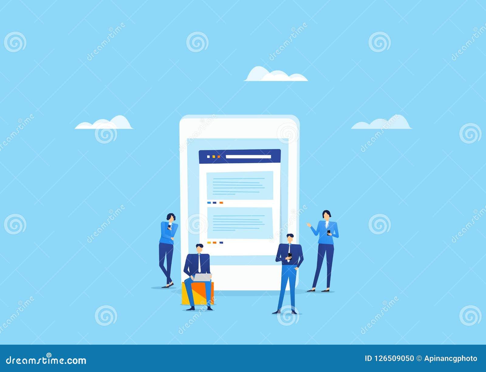 Samkväm för mobil för användning för gruppfolklag funktionsduglig