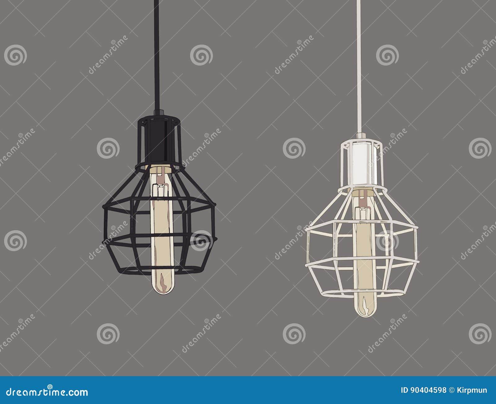 Samling av kulor och lampor för tappningsymboler ljusa Edison Light