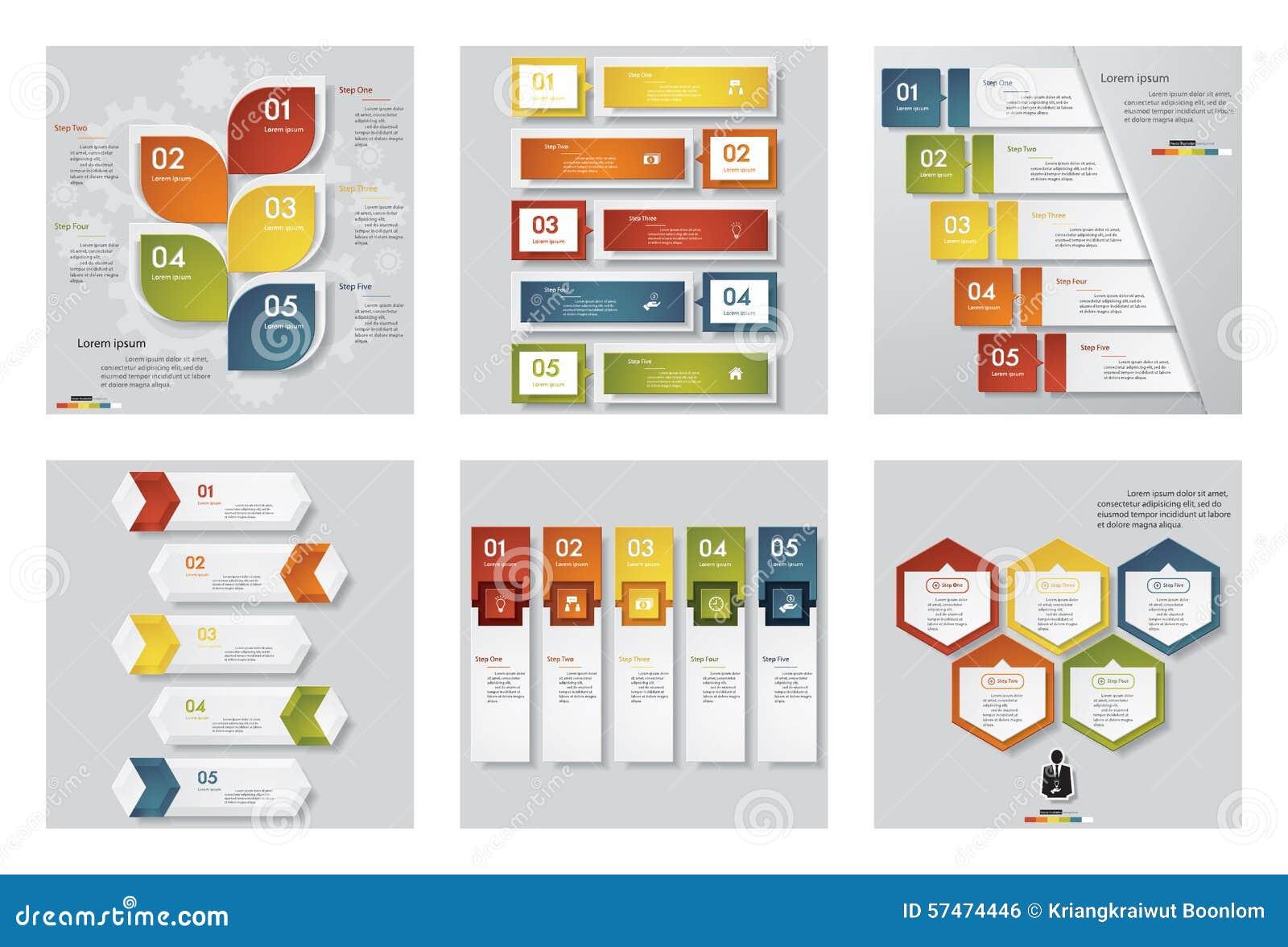 Samling av mallen för 6 design/diagram- eller websiteorienteringen Det kan vara nödvändigt för kapacitet av designarbete