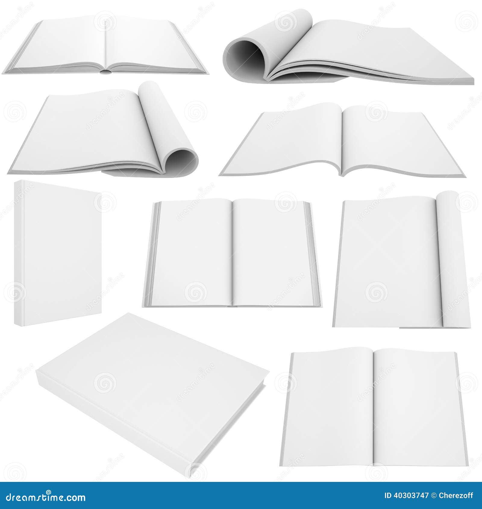 Samling av vita böcker och tidskrifter