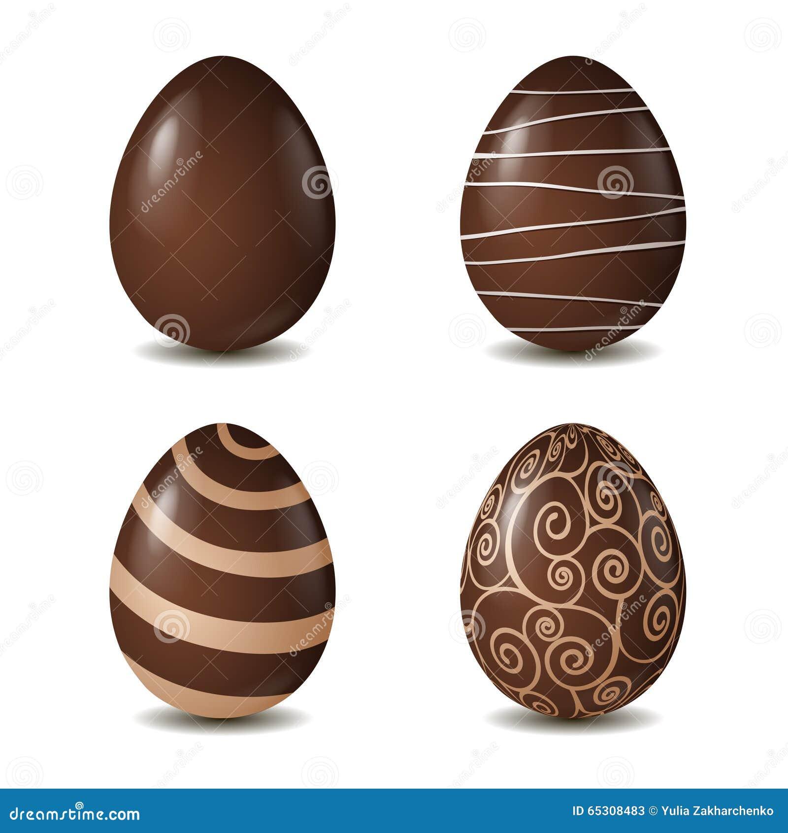 Samling för chokladägg på vit