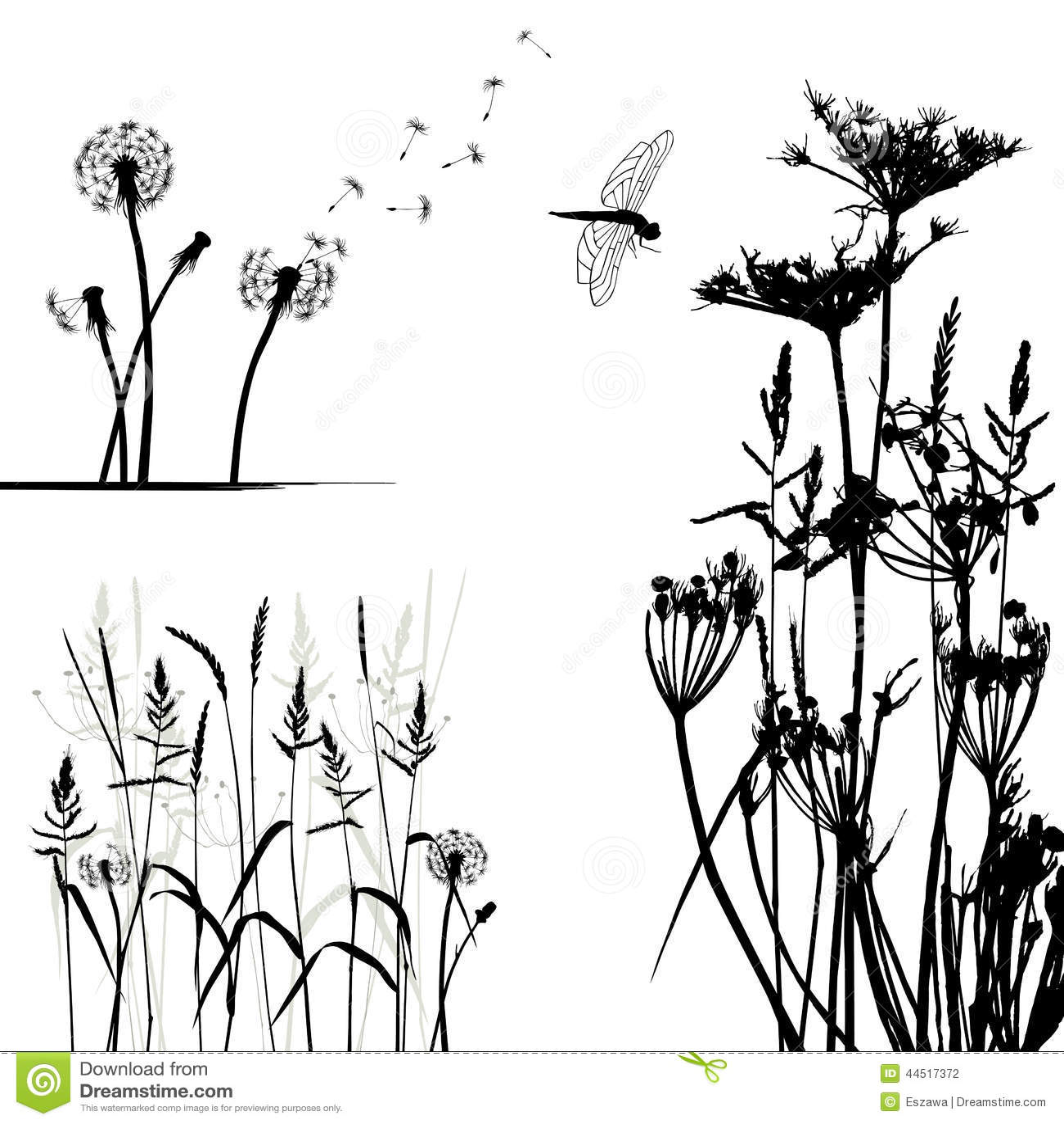 Samling för formgivare, vektor för lös växt