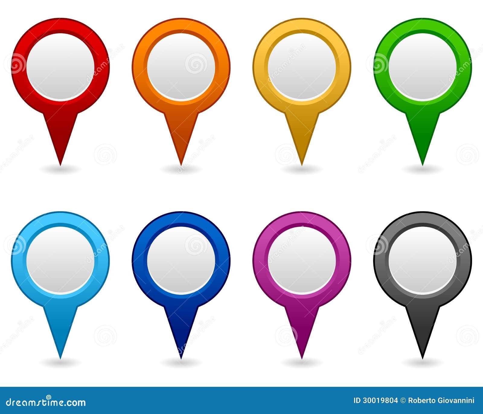 Tomma symboler för GPS och för navigering