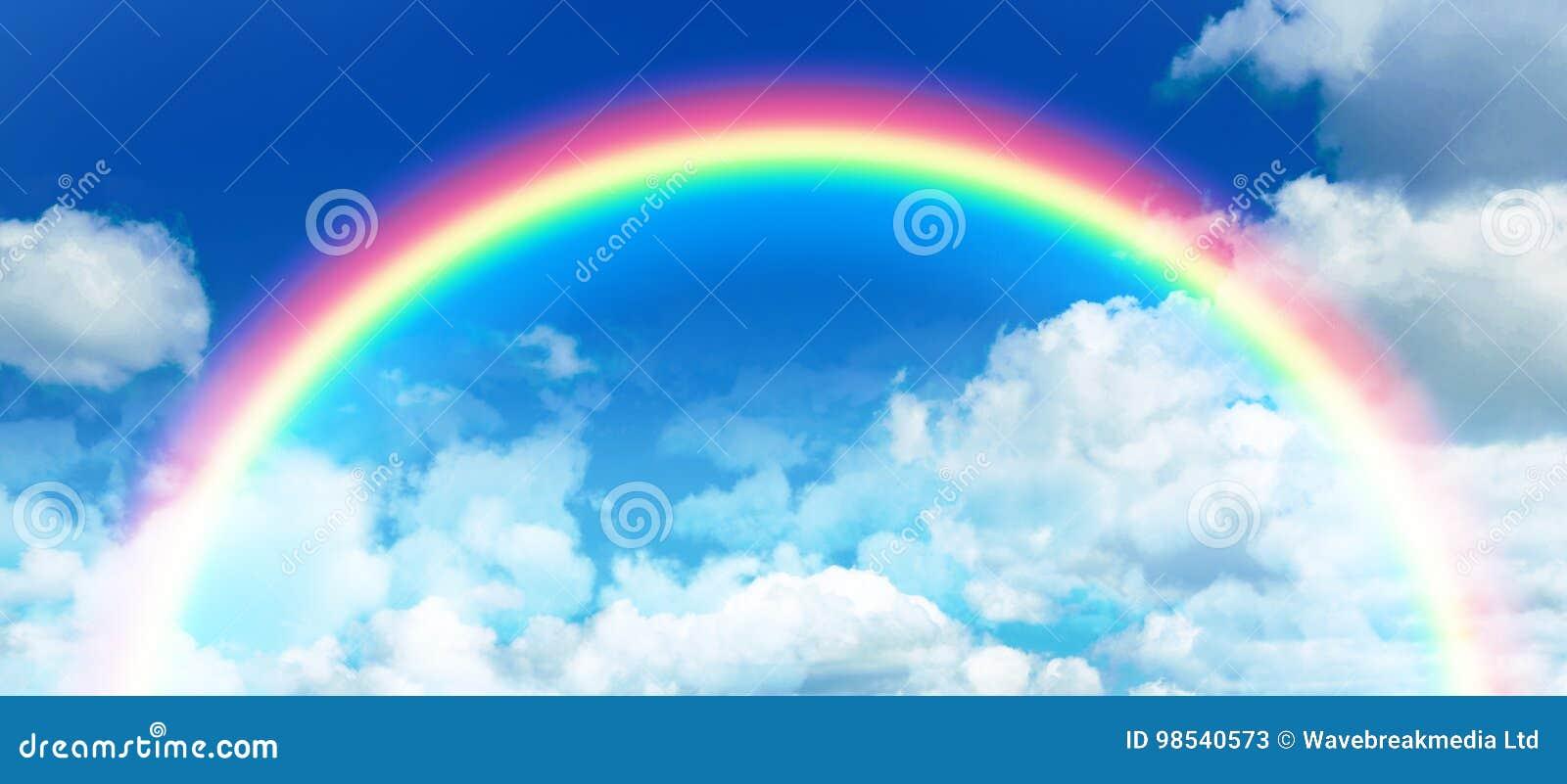 Sammansatt bild av den sammansatta bilden av regnbågen