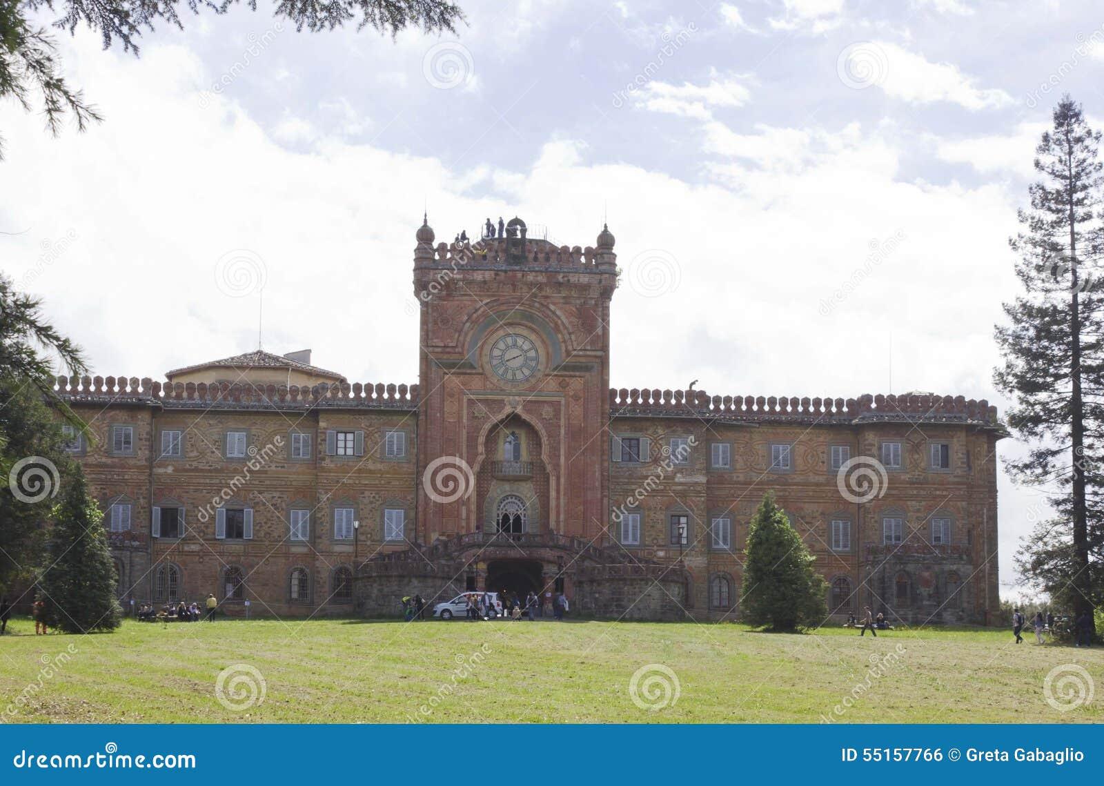 Reggello Italy  City pictures : REGGELLO, ITALY MAY 2 2015: Sammezzano Ancient Castle in the heart ...