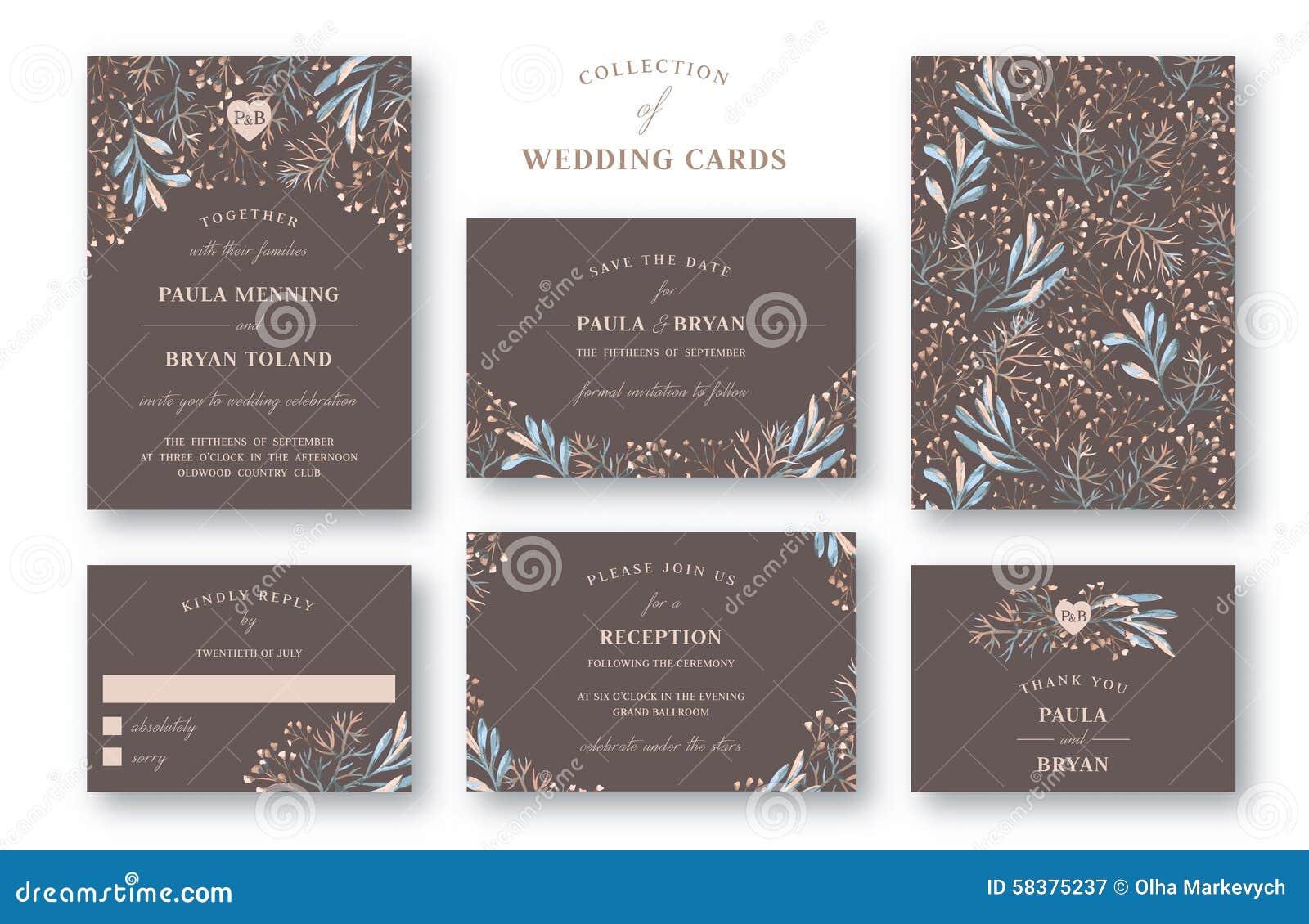 Sammlung der Hochzeits-Einladung