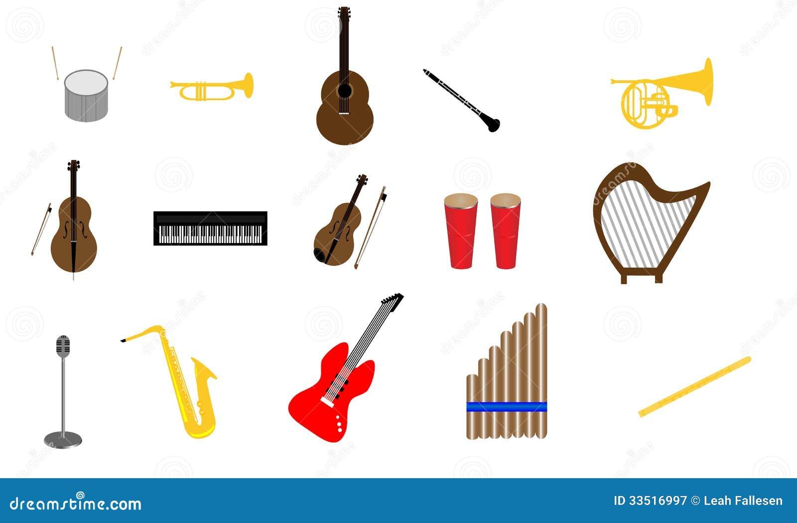 sammlung instrumente vektor abbildung illustration von clarinet 33516997. Black Bedroom Furniture Sets. Home Design Ideas