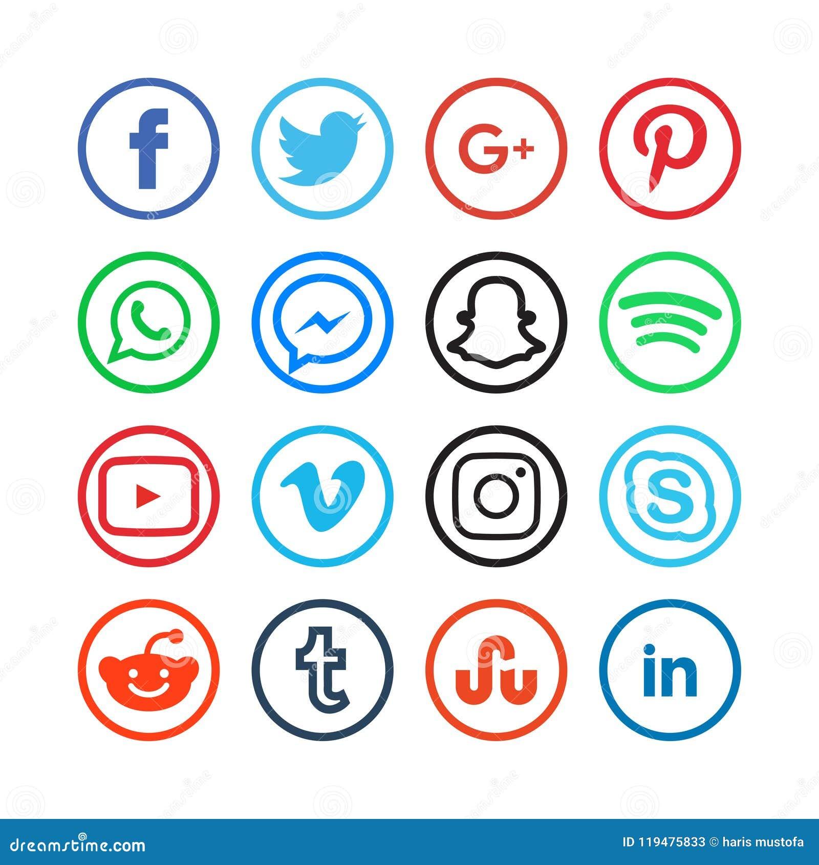 Sammlung Social Media-Ikonen